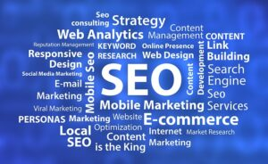The image is to show that SEO is required for a succesful online presence