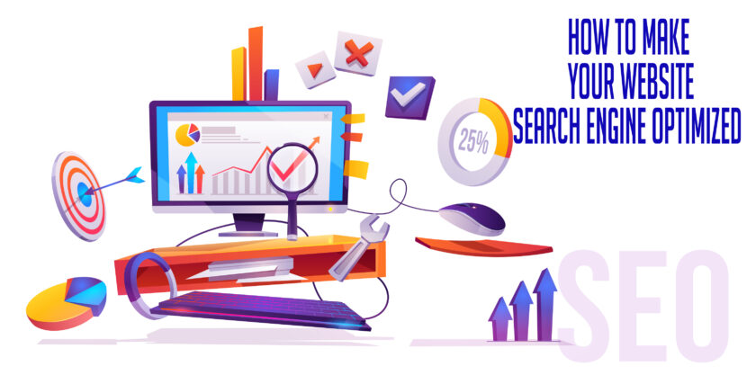 Images describing how to make your website search engine optimized
