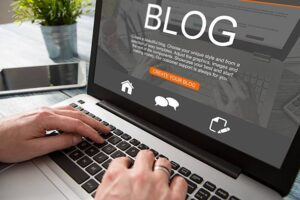 image describing using a blog for digital marketing tip  for small business