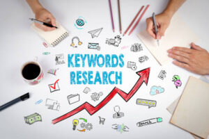 image describing keyword research as a factor for keyword optimization